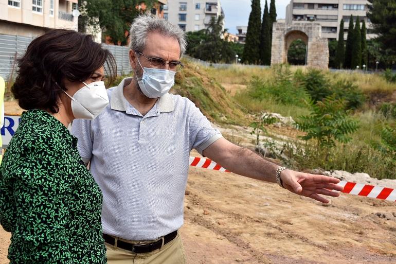 Ciudad Real Comienzan las obras de adecuación del entorno del Arco del Torreón del Alcázar