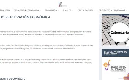 Ciudad Real: Las empresas interesadas en información del Fondo de Reactivación pueden inscribirse en la web del IMPEFE