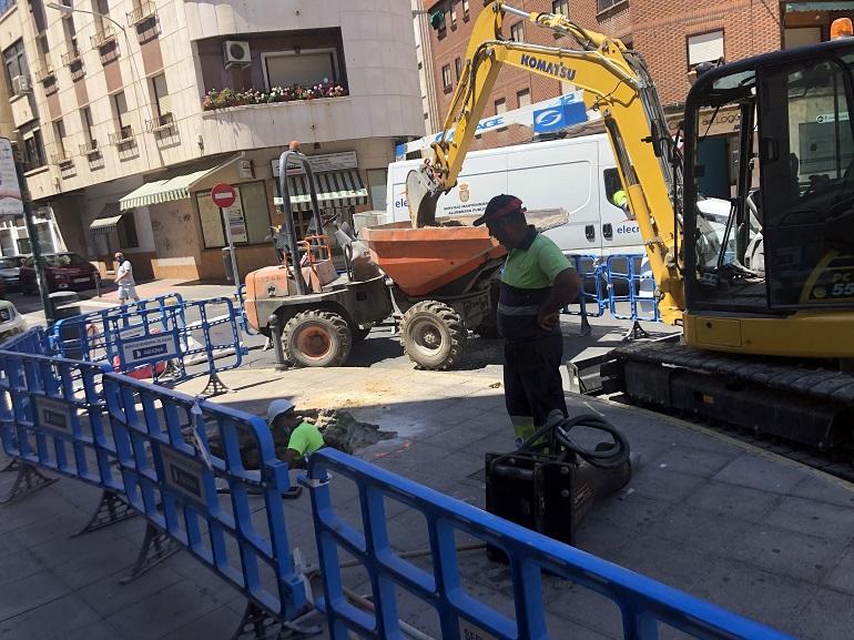 Ciudad Real Comienzan las obras de renovación de la red de distribución en las calles Estación Viacrucis y Paz