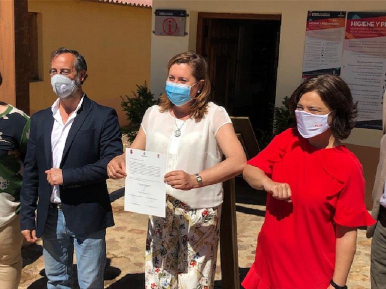 Ciudad Real Firmado el convenio por el que la Junta de Comunidades asume la gestión integral del Parque Arqueológico de Alarcos