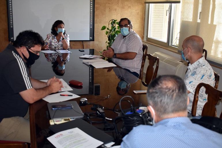 Ciudad Real Pilar Zamora se reúne con representación de la plantilla de la Policía Local