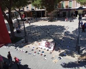 Daimiel: Manifestación simbólica de 'STOP Macrogranjas Daimiel' contra la instalación de una macrogranja porcina en la localidad