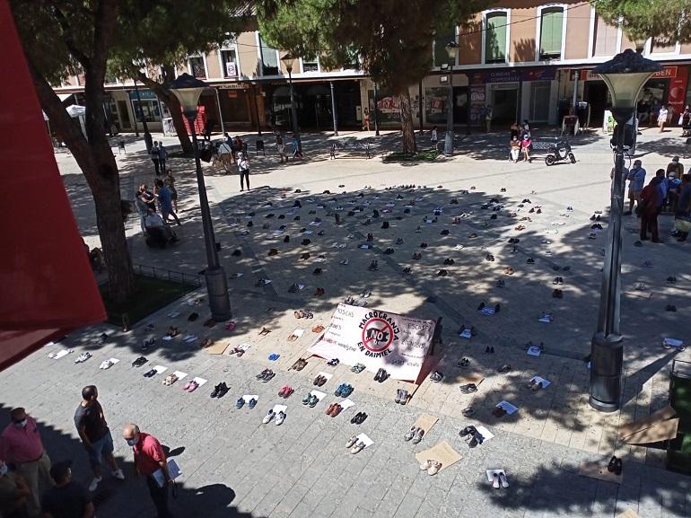 Daimiel Manifestación simbólica de 'STOP Macrogranjas Daimiel' contra la instalación de una macrogranja porcina en la localidad