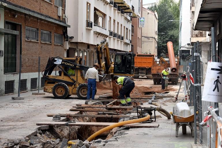 Ciudad Real Las obras de la calle Montesa permitirán subsanar los hundimientos y deficiencias de esta calle comercial