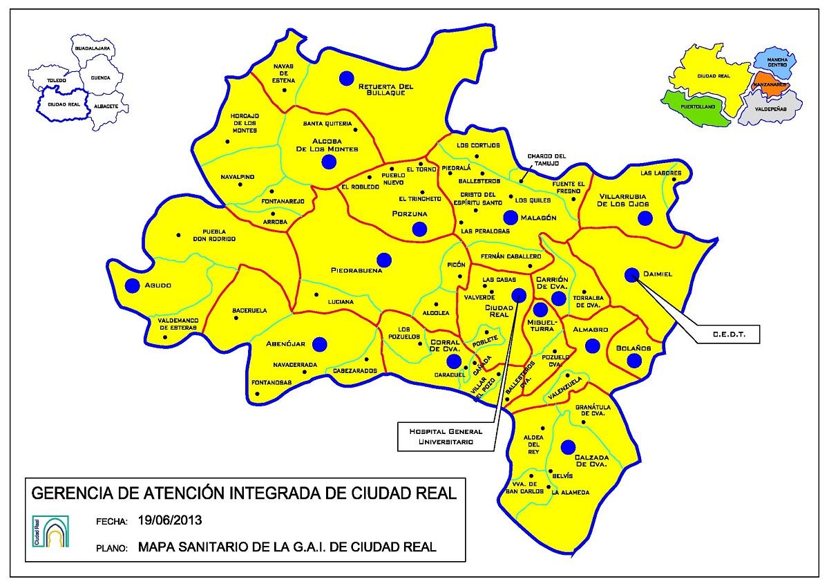 La Consejería de Sanidad decreta medidas especiales para todas las localidades que integran la Gerencia de Área Integrada de Ciudad Real