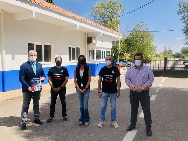 Rosa Romero y José Antonio Callejas visitan el Centro Penitenciario de Herrera de La Mancha para conocer los problemas a los que se enfrentan día a día