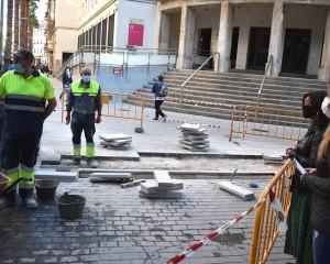 Ciudad Real: La peatonalización de las calles Bernardo Mulleras  y Alfonso X llega a su recta final