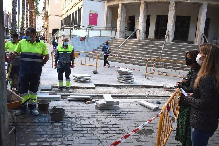 Ciudad Real La peatonalización de las calles Bernardo Mulleras y Alfonso X llega a su recta final
