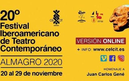 Almagro celebra el XX Festival Iberoamericano de Teatro Contemporáneo de manera online desde el día 20 al 29 de noviembre