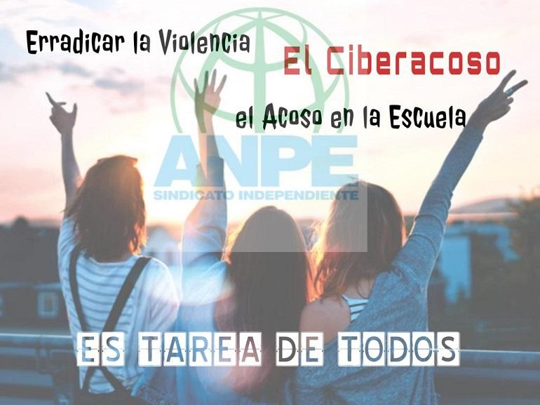 ANPE reitera su compromiso en el Día Internacional contra la Violencia y el Acoso en la Escuela