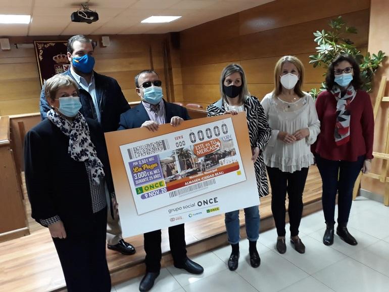 El Mercadillo Municipal de Almadén protagoniza el Cupón de la ONCE del día 9 de noviembre