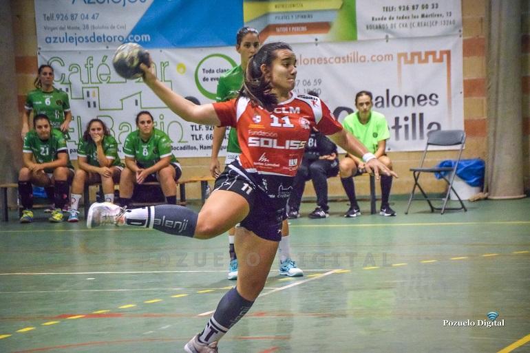 El Soliss BM Pozuelo puso contra las cuerdas al Vino Doña Berenguela BM Bolaños en el derby regional