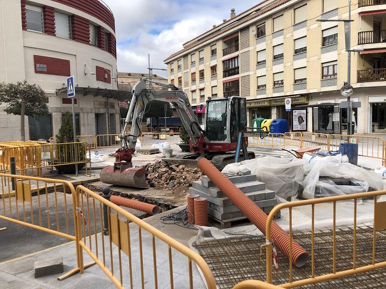 Ciudad Real Cortada la Calle Postas, entre Morería y Reyes, por obras de peatonalización