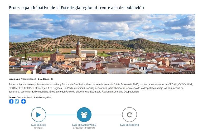 Proceso participativo Estrategia Regional frente a la Despoblación