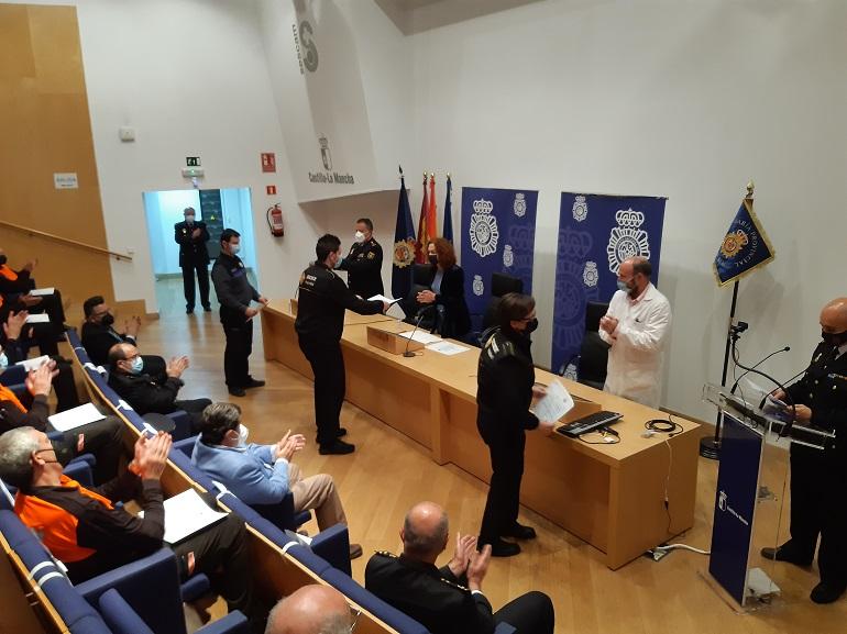 Ciudad Real Entrega de las menciones honorificas a personal de seguridad privada en el ámbito sanitario