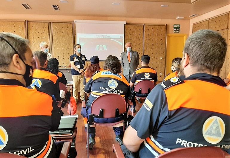Ciudad Real Una veintena de voluntarios de Protección Civil participan en un curso de apoyo logístico